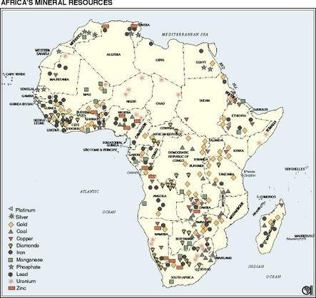 Map Of Africa Natural Resources.Natural Resources An Adventure Through South Africa